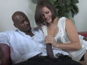 Handjob big black cock